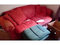 FREE sofa + footstool + one-person sofa