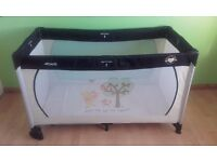 Winnie the pooh travel cot in excellent condition.