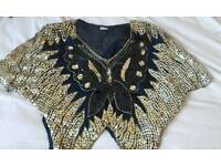 Sequin Butterfly ladies size m top