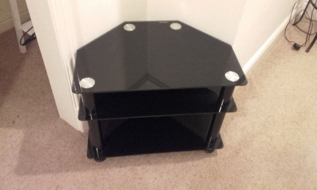 Three Tier Black Glass Tv Stand In Cheadle Manchester Gumtree