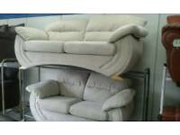 New dfs cream suede suite delivery e