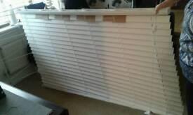 Classic white faux wood Window blind