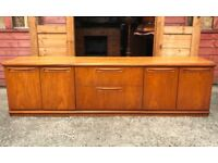 Long Teak Sideboard Cocktail Bar Cabinet Cupboard Drawers G Plan Era - Delivery Available