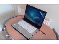 "TOSHIBA EQUIMM LAPTOP ,WIN 7, WIFI, DVDRW, 15.4"" WIDESCREEN, IN GREAT CONDITION."