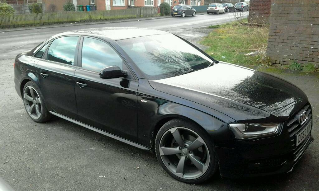 audi a4 s line black edition in droylsden manchester. Black Bedroom Furniture Sets. Home Design Ideas