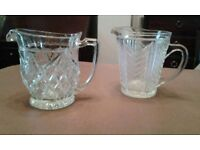 2 x glass water jugs