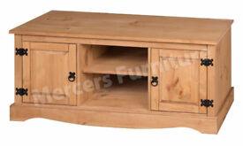 Corona 2 door 1 shelf TV unit / Mercers Furniture
