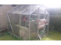 GLASS GREENHOUSE 8ft x 4ft