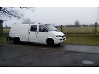 transporter t4 vw custom unfinished built in dolly lots of new parts