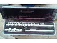 Boosey Boosey and Hawkes student flute 573597. Cooper pattern.