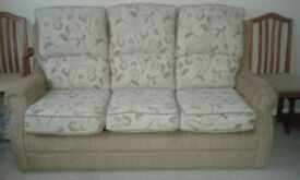 3 Piece Suite, 3 seater sofa and 2 chairs