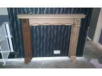Solid pine wood fire surround