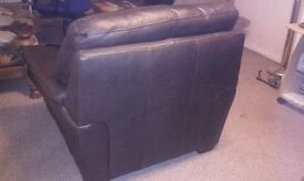 Dark Brown Leather Chairs good condition hardly used. Only some small scuffs on the backs
