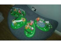 Peppa Pig playpark set with figures includes swings,chute seasaw and boating pond