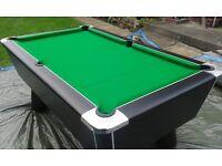 Domestic 7 x 4 Supreme pool table in excellant condition. (colour :- Black Pearl)
