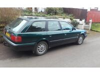 1994 Audi 100E estate 2.0 liter green petrol 4 cylinder parts or repair £290 ono