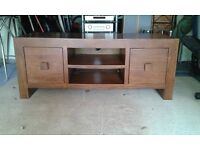 Mahogany Wide TV/Audio unit with drawers (Cost £450)