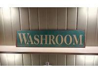 Faux Vintage, Metal, Washroom / Bathroom Sign