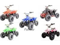 brand new 110cc thunder cat quad bike kids blue pink red black green can deliver cash on collection