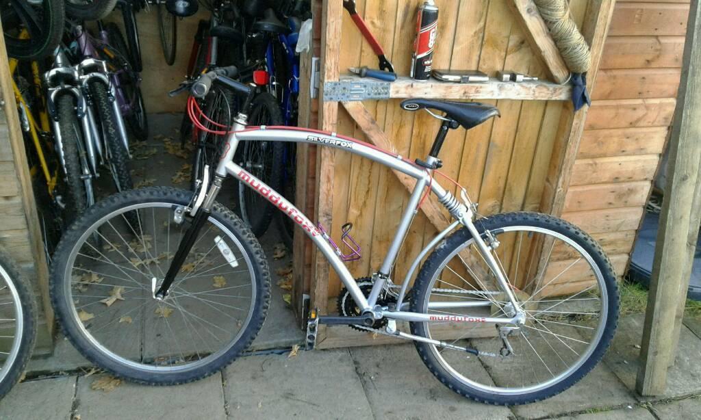 Mountain bicycle muddy fox