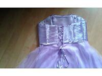 SZ 14 LILAC EMBELLISHED PROM DRESS