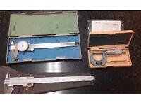 engineers measuring tools