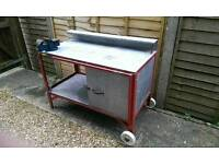 Industrial grade Work bench with vice included