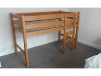 Mid High solid pine bed