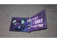 The Joker,from Batman DC Comics,wallet purple with prunt on inside and out,only £4,poss loc delivery