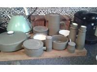 Denby Olive green kitchen pottery