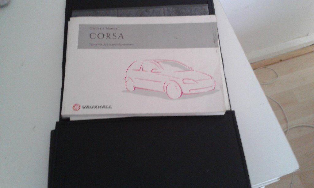 Vauxhall corsa c owners handbook