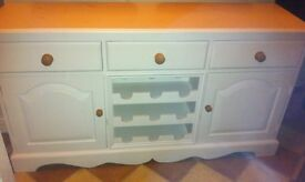 Solid Pine Sideboard (cream)