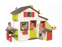 New still boxed / unopened - Smoby Kids Large Outdoor Garden Play House Picnic Table Activity Set