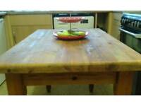 Solid , Thick Cut, Pine Table... £125.00..Free local delivery.