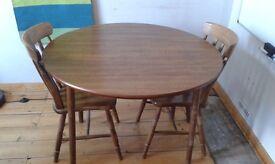 foldable circular dining table