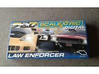 Scalextric Digital Law Enforcer Set with 3 Digital Cars New
