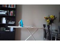 "For all your ironing needs- Bosch Iron ""CKBD12"" and John Lewis Ironing board"
