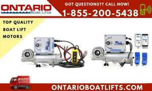Electric Boat Lift Motors ! Tired of cranking your boat up and down? Even grandma can swiftly lower the boat in a jiffy!