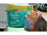 Pampers & huggies nappies, unopened packs