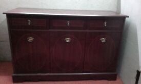 Mahogany cabinet £15