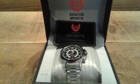 Brand new in box, gents aviator watch, never been worn.