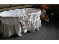 Wicker Moses basket for a baby