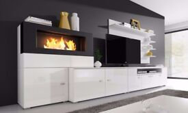 TV Entertainment Centre with Built-In Biofuel Fireplace for sale