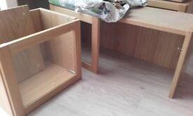 Ikea Billy Byom height extension bookcase units in Oak Veneer