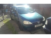Vauxhall corsa c 5 door spares or repair