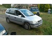Vauxhall zafira elegance 2003 1.8 16v