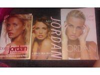 3 x Katie Price / Jordan autobiography books