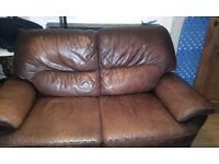 free scs brown leather sofa