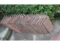 21 Original Ridge Tiles & 2 broken for cuts 1920's/30's