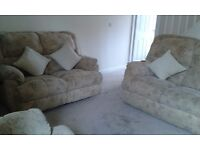 EXCELLENT CONDITION, TWO SOFA'S ONE CHAIR